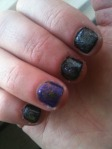 love these, black with diamond glitter + purple with gold glitters.