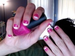 i LOVE hot pink and i LOVE white tips. so yeah, i LOVE all this.