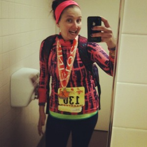 I ran my first marathon this year, 26.2 miles!