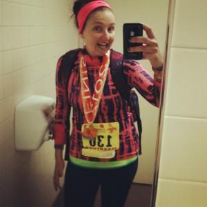 I ran my first marathon this year, 26.2 miles!