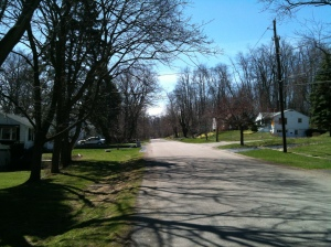 The view of our street when we first moved in.